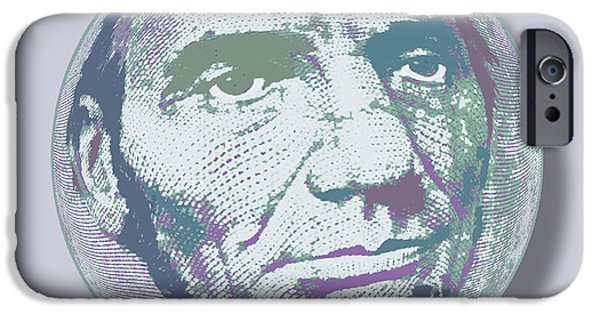 Abraham Lincoln Canvas iPhone Cases - Abraham Lincoln Orb iPhone Case by Tony Rubino