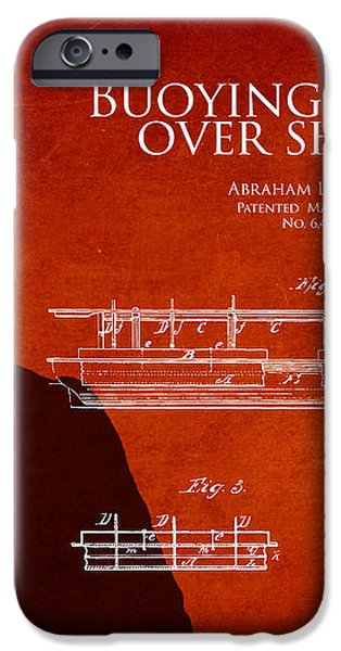 Abraham Lincoln Patent from 1849 iPhone Case by Aged Pixel
