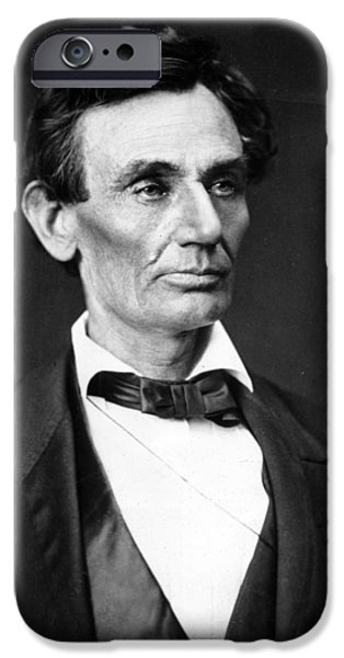 Politician iPhone Cases - Abraham Lincoln Portrait iPhone Case by Anonymous