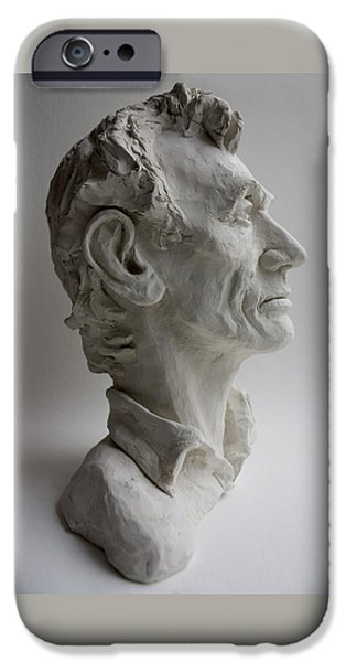 United States Sculptures iPhone Cases - Abraham Lincoln- profile iPhone Case by Derrick Higgins