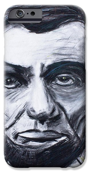 President Pastels iPhone Cases - Abraham lincoln the 16th president  iPhone Case by Don Lee