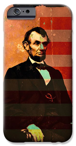 Abraham Lincoln iPhone Case by Wingsdomain Art and Photography