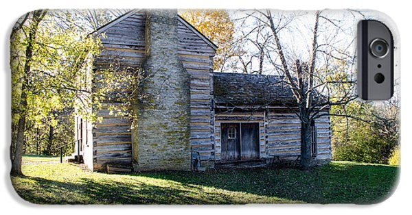 Buildings iPhone Cases - Abraham Lincolns Birthplace iPhone Case by Mary Carol Story
