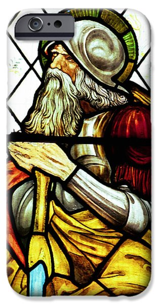 Patriarch iPhone Cases - Abraham the Patriarch in Stained Glass iPhone Case by Philip Ralley