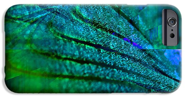 Business Digital Art iPhone Cases - Absolute Blue iPhone Case by Michael Durst