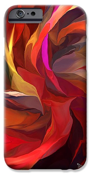 Abstract Digital Digital Art iPhone Cases - Abstract 062613 iPhone Case by David Lane