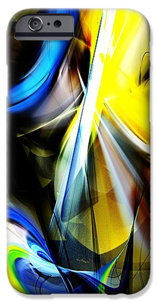 Abstract Digital iPhone Cases - Abstract 063013A iPhone Case by David Lane