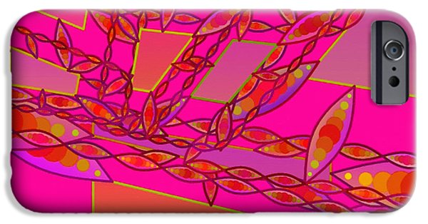 Cambridge Paintings iPhone Cases - Abstract 066 iPhone Case by Victor Gladkiy