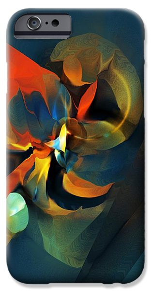 Abstract Digital iPhone Cases - Abstract 070113 iPhone Case by David Lane