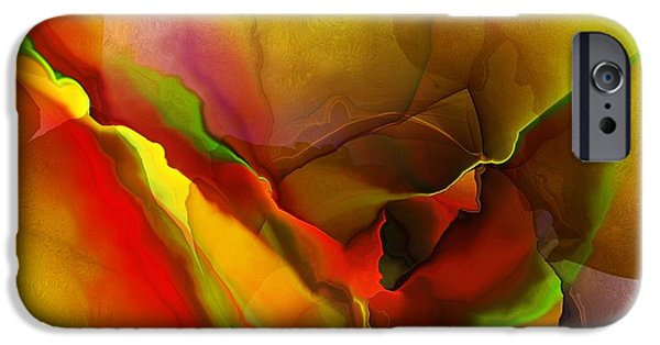 Abstract Digital iPhone Cases - Abstract 070213 iPhone Case by David Lane
