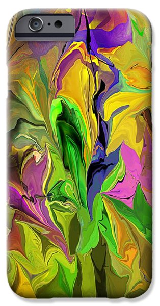 Abstract Digital iPhone Cases - Abstract 070313 iPhone Case by David Lane
