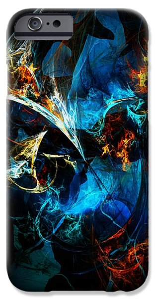 Abstract Digital Digital Art iPhone Cases - Abstract 080613 iPhone Case by David Lane