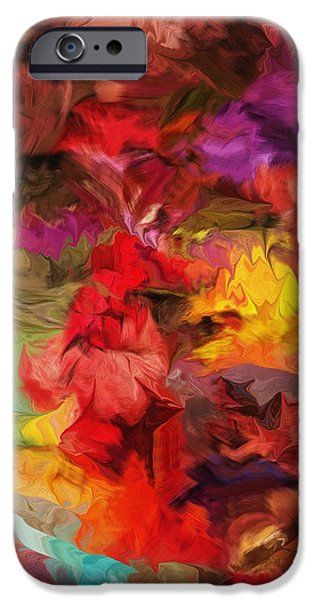 Abstract Digital iPhone Cases - Abstract 081313 iPhone Case by David Lane
