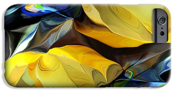 Abstract Digital iPhone Cases - Abstract 082413A iPhone Case by David Lane