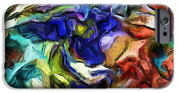 Abstract Digital Art iPhone Cases - Abstract 082713b iPhone Case by David Lane