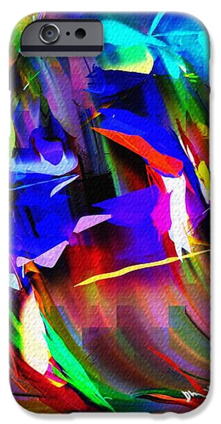 Abstract Digital iPhone Cases - Abstract 082713d iPhone Case by David Lane
