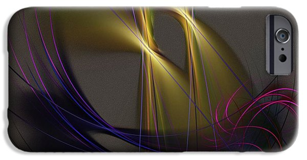 Abstract Digital iPhone Cases - Abstract 090613 iPhone Case by David Lane