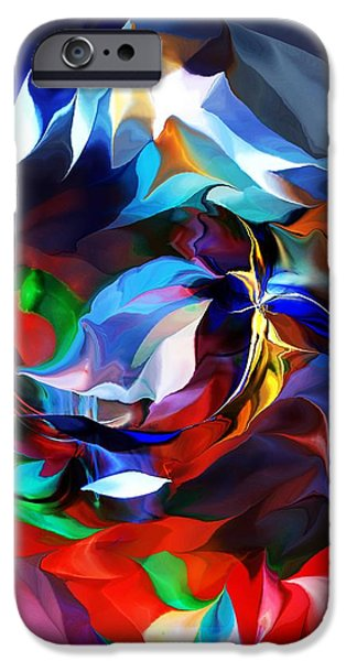 Abstract Digital iPhone Cases - Abstract 091613 iPhone Case by David Lane