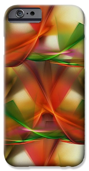 Abstract Digital Digital Art iPhone Cases - Abstract 092313 iPhone Case by David Lane