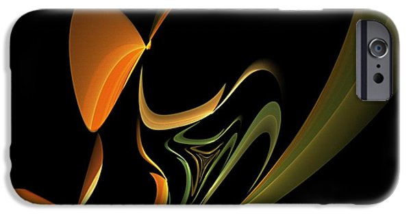 Abstract Digital Digital Art iPhone Cases - Abstract 092713 iPhone Case by David Lane