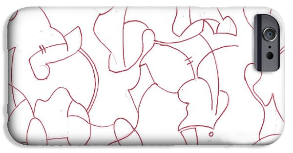 Basic Drawings iPhone Cases - Abstract 1 iPhone Case by Amy Lee