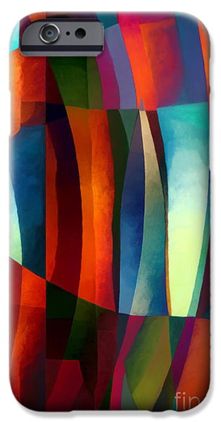 Santa iPhone Cases - Abstract #1 iPhone Case by Elena Nosyreva