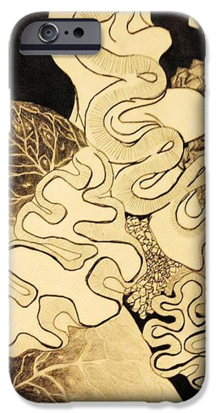 Abstract Collage Drawings iPhone Cases - Abstract 1 iPhone Case by Linnea VanderMolen