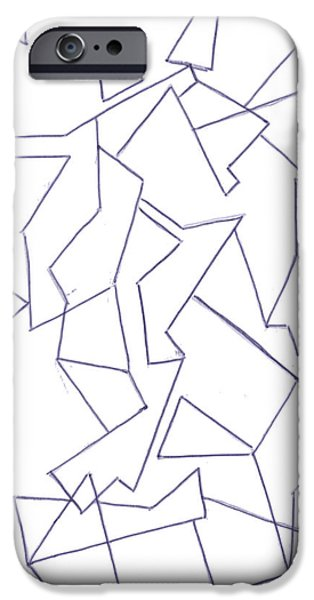 Basic Drawings iPhone Cases - Abstract 10 iPhone Case by Amy Lee