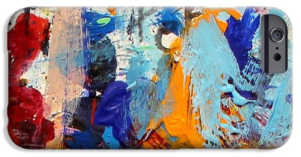 Abstract Expressionism Paintings iPhone Cases - Abstract 10 iPhone Case by John  Nolan