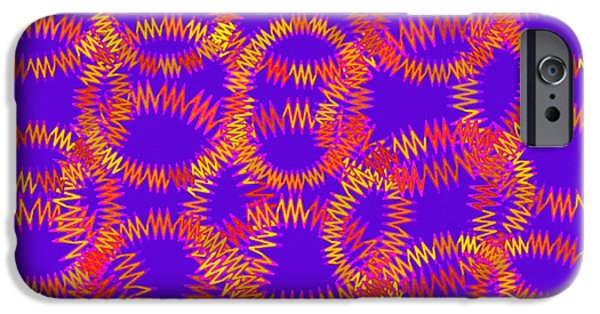 Cambridge Paintings iPhone Cases - Abstract 109 iPhone Case by Victor Gladkiy
