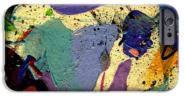 Abstract Expressionism Paintings iPhone Cases - Abstract 11 iPhone Case by John  Nolan