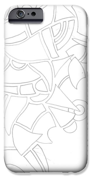 Basic Drawings iPhone Cases - Abstract 13 iPhone Case by Amy Lee