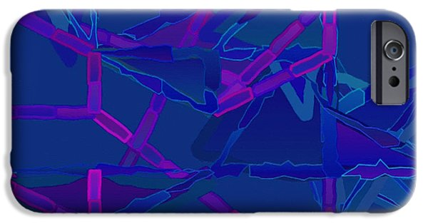 Cambridge Paintings iPhone Cases - Abstract 136 iPhone Case by Victor Gladkiy