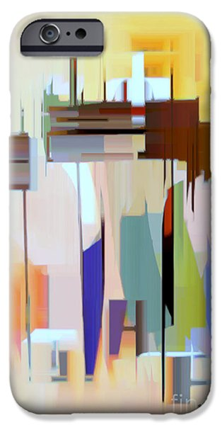 Shower Curtain iPhone Cases - Abstract 16 iPhone Case by Rafael Salazar