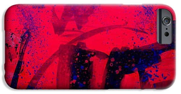 Abstract Expressionism iPhone Cases - Abstract 18115  Luminescence iPhone Case by John  Nolan
