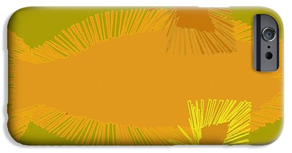 Concept Paintings iPhone Cases - Abstract 196 iPhone Case by Victor Gladkiy