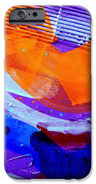 Abstract Expressionism iPhone Cases - Abstract  19614 cropped I  iPhone Case by John  Nolan