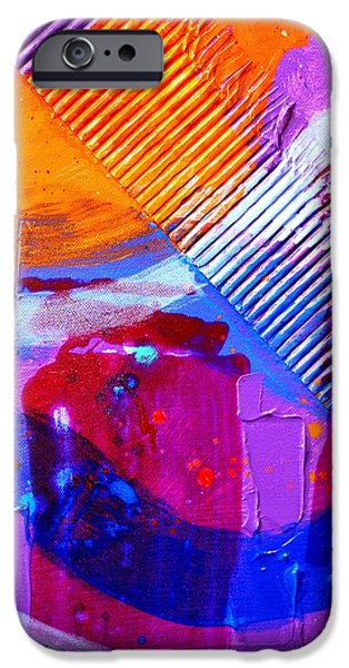 Painter Paintings iPhone Cases - Abstract  19614 cropped III iPhone Case by John  Nolan
