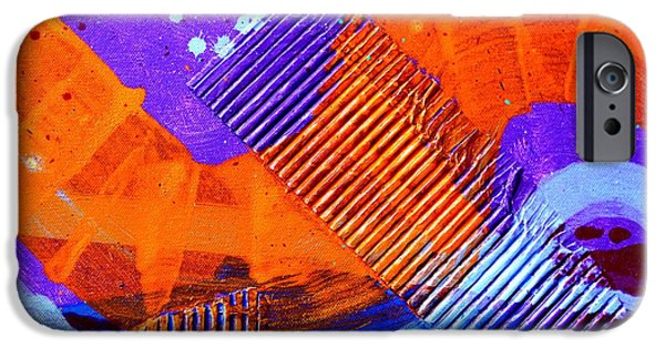 Fine Art Abstract iPhone Cases - Abstract  19614 cropped IV iPhone Case by John  Nolan