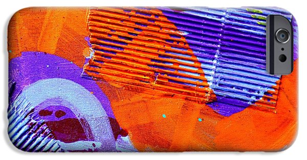 Fine Art Abstract iPhone Cases - Abstract  19614 cropped V iPhone Case by John  Nolan