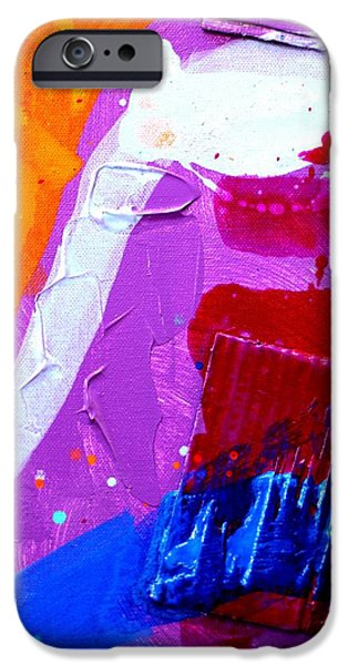 Abstract Expressionism iPhone Cases - Abstract  19614 cropped VI iPhone Case by John  Nolan