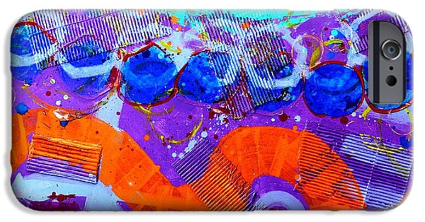 Abstract Expressionism iPhone Cases - Abstract  19614 iPhone Case by John  Nolan