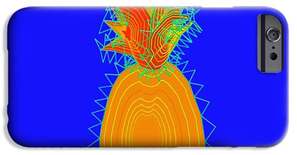 Concept Paintings iPhone Cases - Abstract 198 iPhone Case by Victor Gladkiy