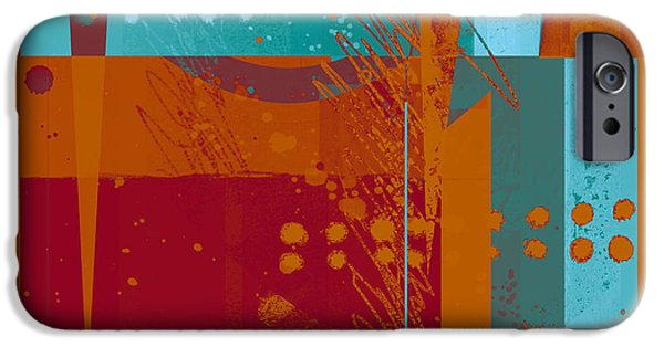 Geometric Style iPhone Cases - Abstract 203 iPhone Case by Ann Powell