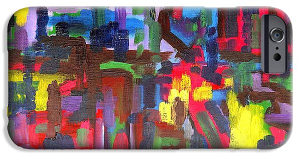 Art Mobile iPhone Cases - Abstract 213 iPhone Case by Patrick J Murphy