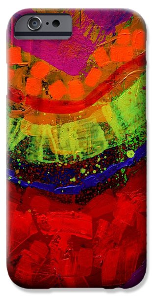 Abstract Expressionism iPhone Cases - Abstract 23614 cropped I iPhone Case by John  Nolan