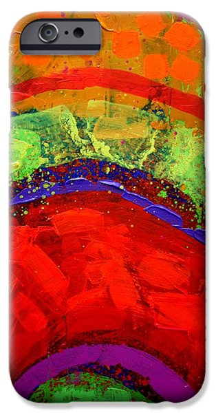 Fine Art Abstract iPhone Cases - Abstract 23614 cropped II iPhone Case by John  Nolan