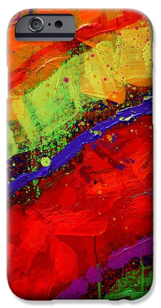Fine Art Abstract iPhone Cases - Abstract 23614 cropped III iPhone Case by John  Nolan