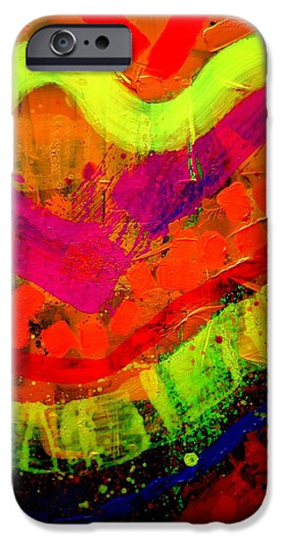 Abstract Expressionism iPhone Cases - Abstract 23614   cropped iPhone Case by John  Nolan