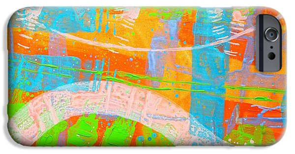 Abstract Expressionism iPhone Cases - Abstract  23614   Diptych  I  iPhone Case by John  Nolan